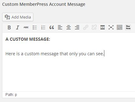 Custom Member Messages Admin View