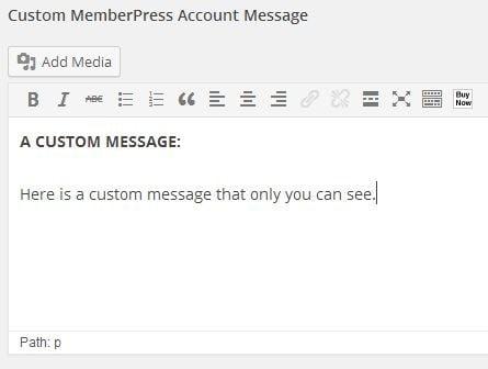 Custom Member Messages Admin View