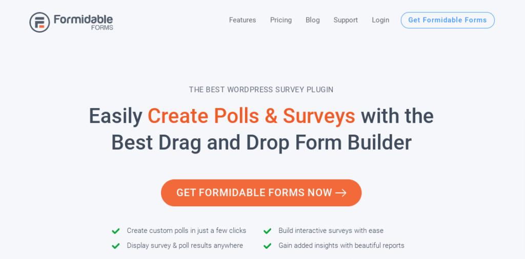Formidable Forms Surveys