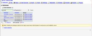 Create database MAMP