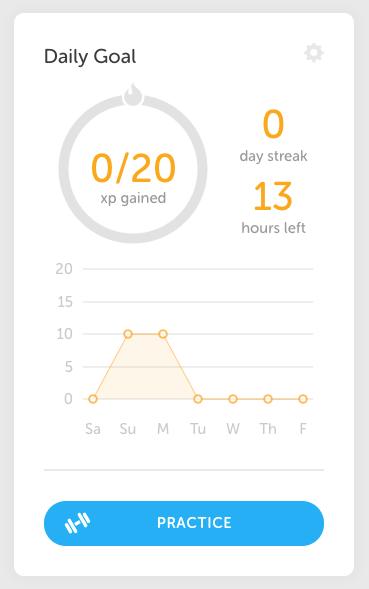 A Duolingo streak tracker.