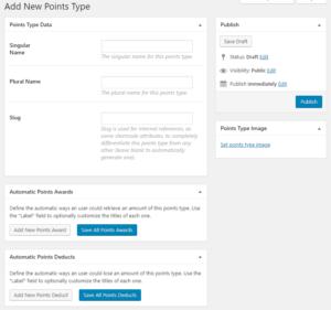 GamiPress New Points Type
