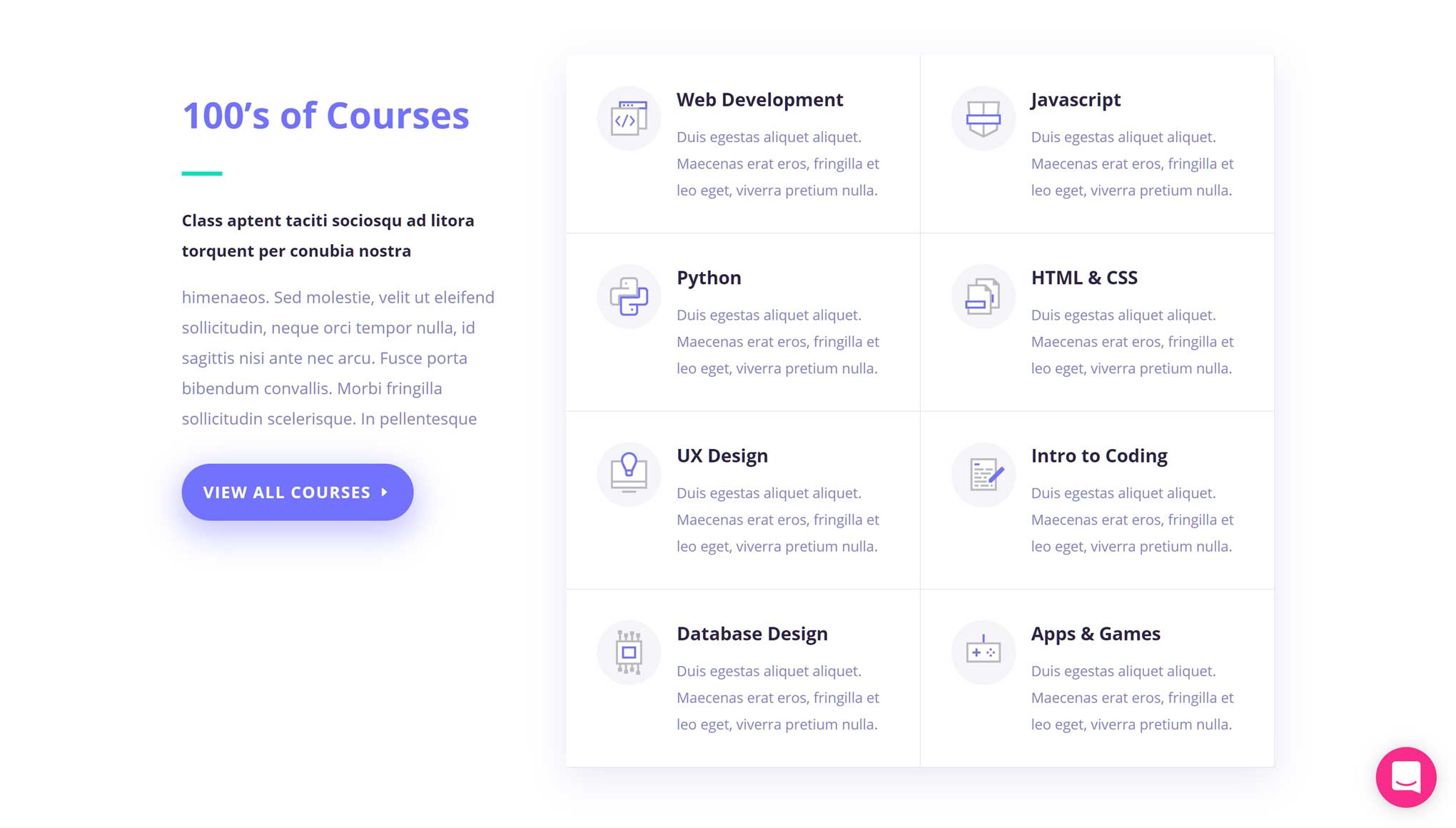 Divi Course List