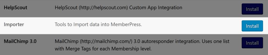 MemberPress Importer Add-on