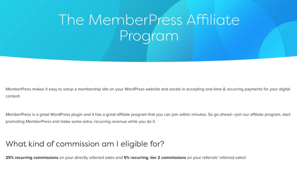 The MemberPress affiliate program..