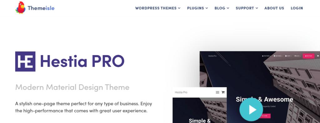 Hestia Pro WordPress theme