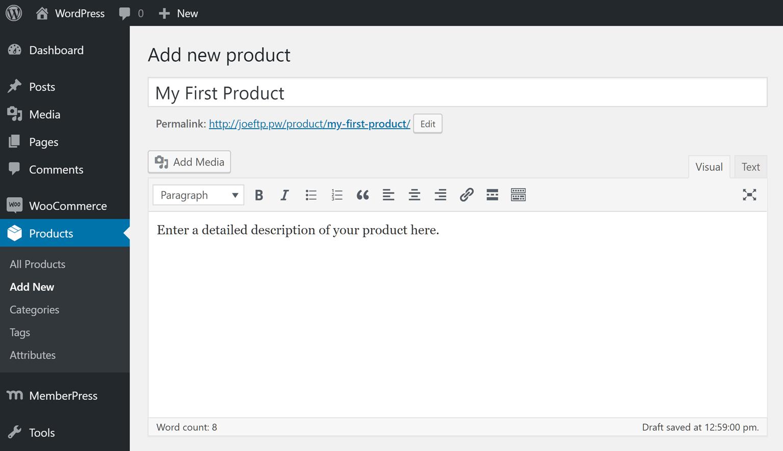 Create a Product