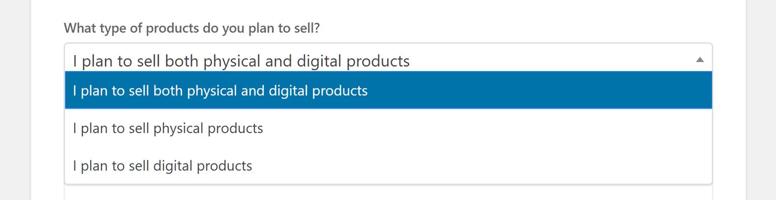 Product Type Settings