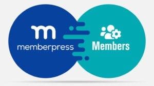 memberpress and the members role editor plugin