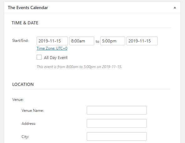 Tweaking your event details.