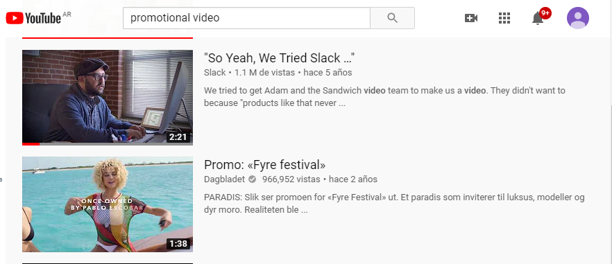 Some examples of YouTube promotional videos.