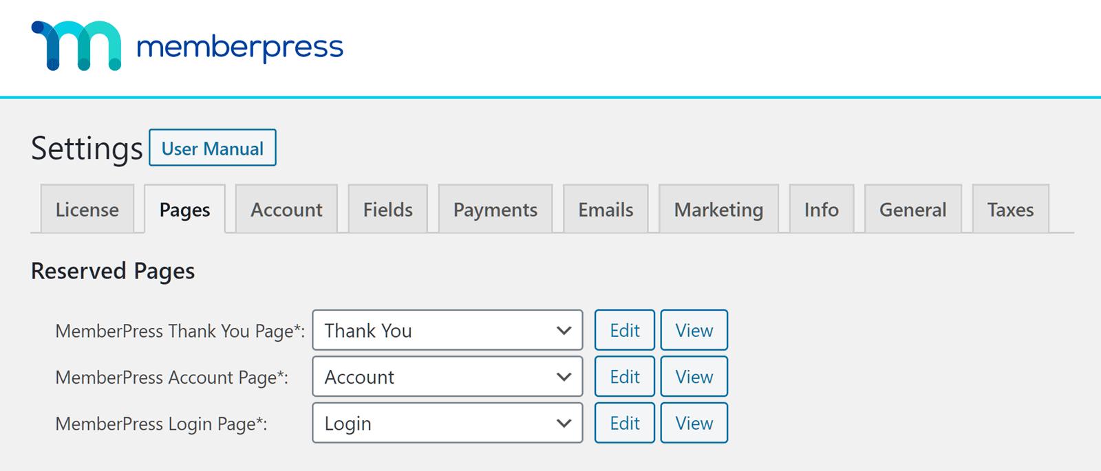 MemberPress Page