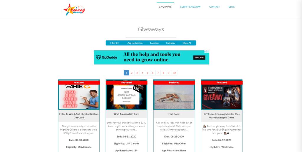 giveaway machine website