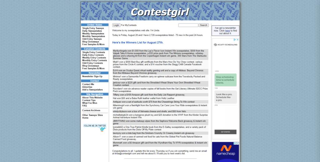 contestgirl website