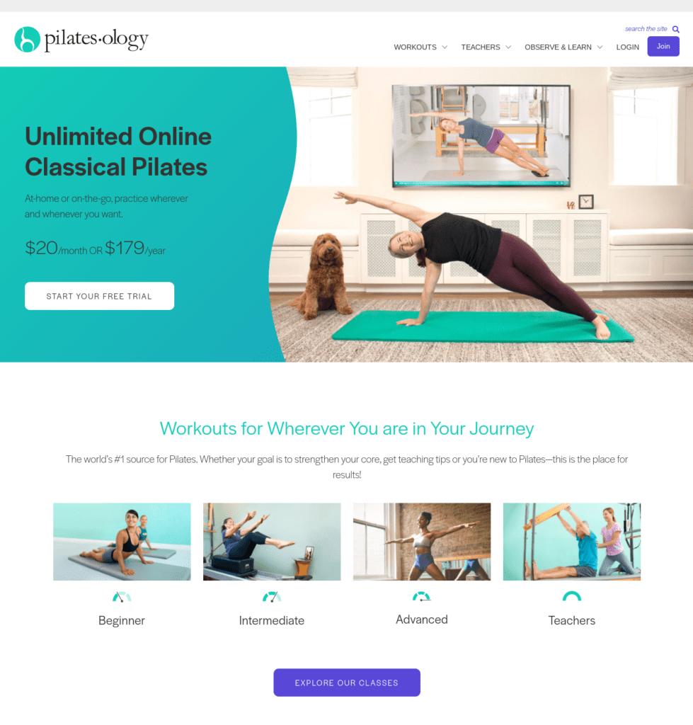 Pilatesology homepage