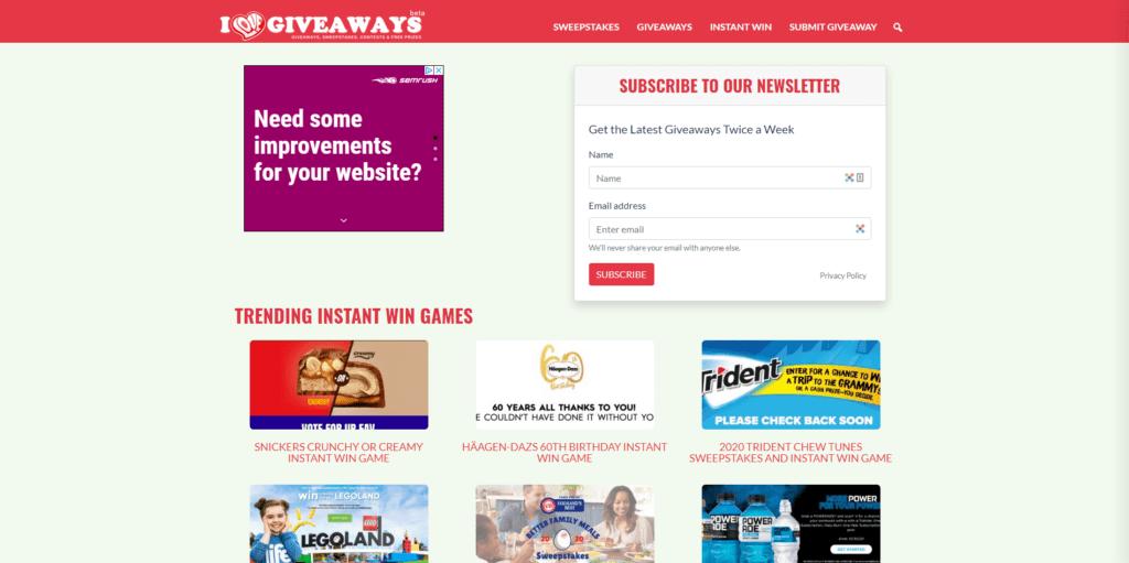 i love giveaways website