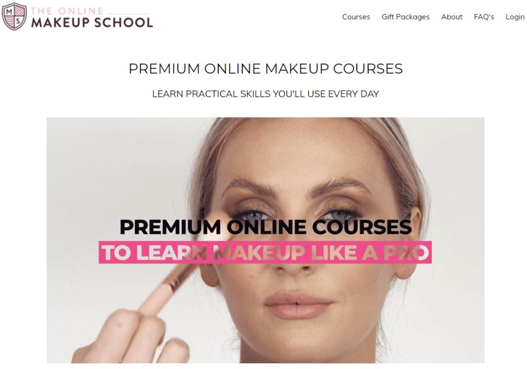 Online makeup skills courses.