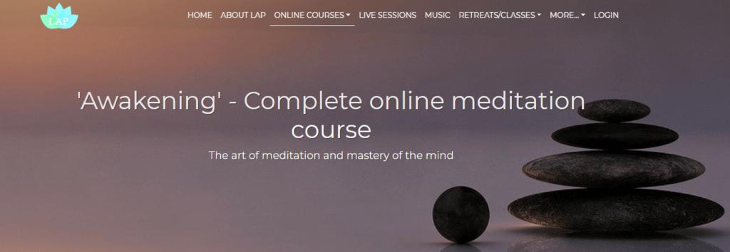 An online meditation course.