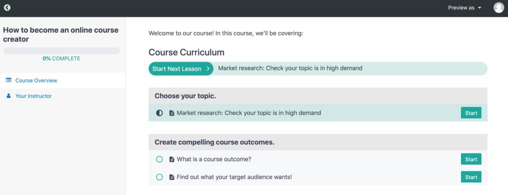 An online course created using MemberPress.