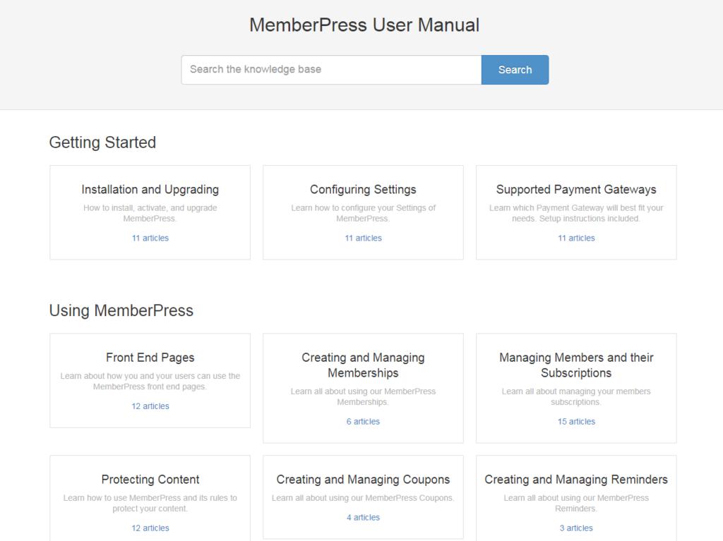 The MemberPress knowledge base.