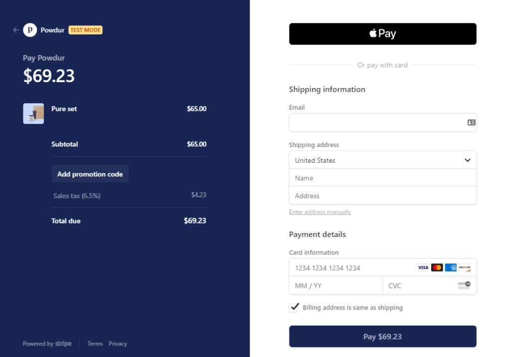 Apple Pay Desktop View