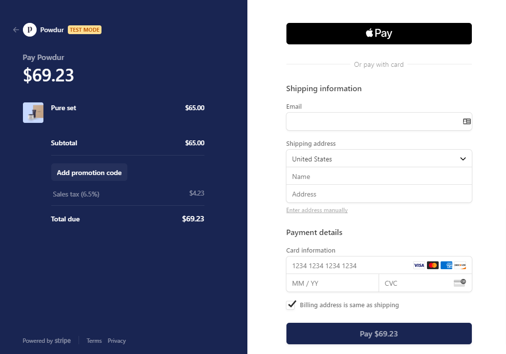 Demo Of Apple Pay For MemberPress