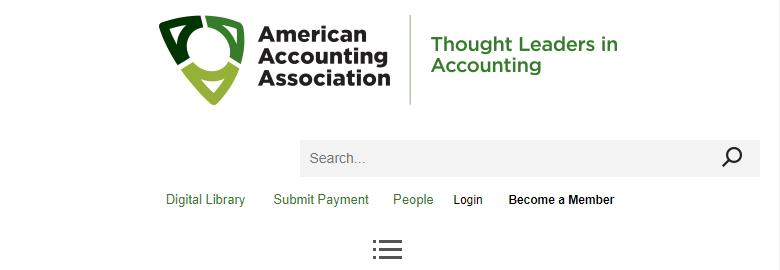 The American Accounting Association professional membership organization.