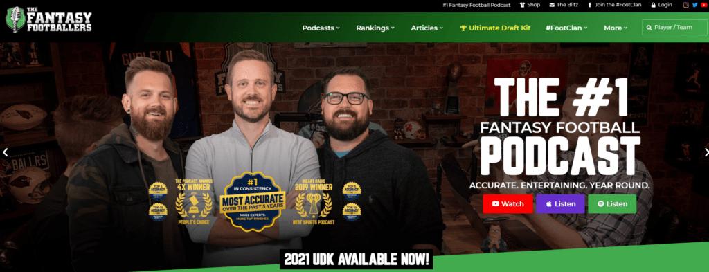 The Fantasy Footballers homepage