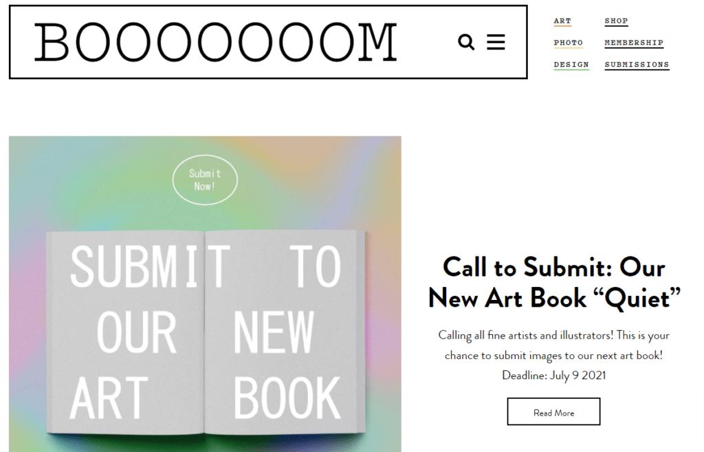 Booooooom homepage
