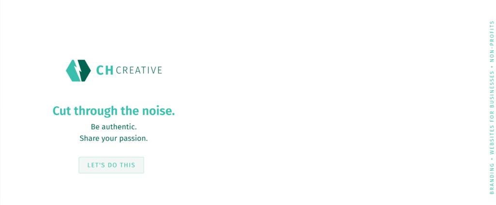 CH Creative homepage