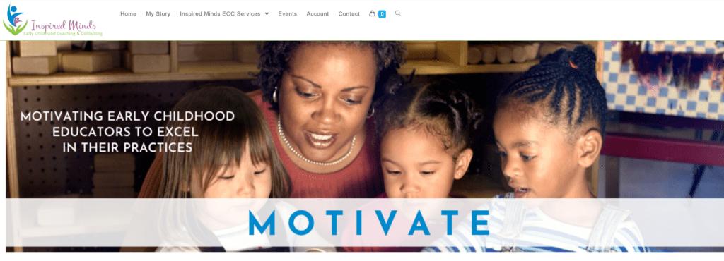 Inspired Minds website