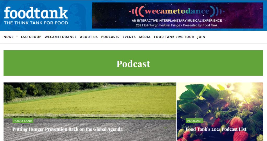 Food Tank homepage