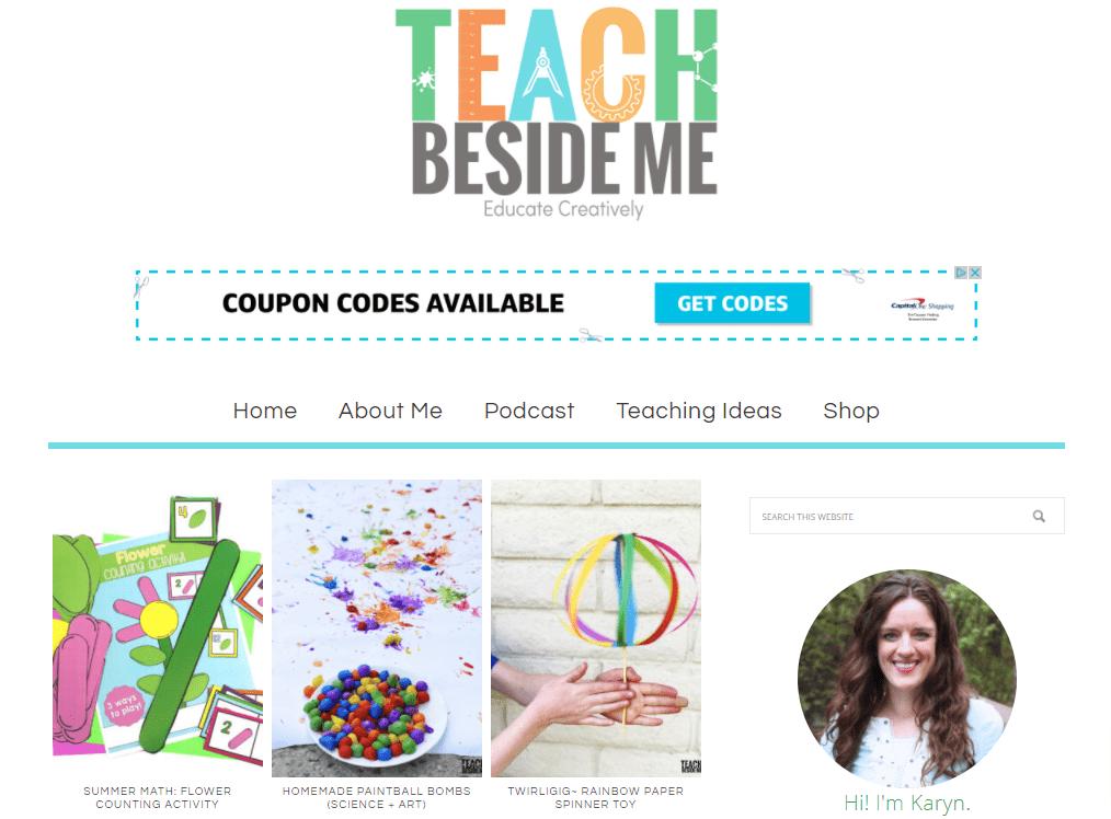 Teach Beside Me homepage