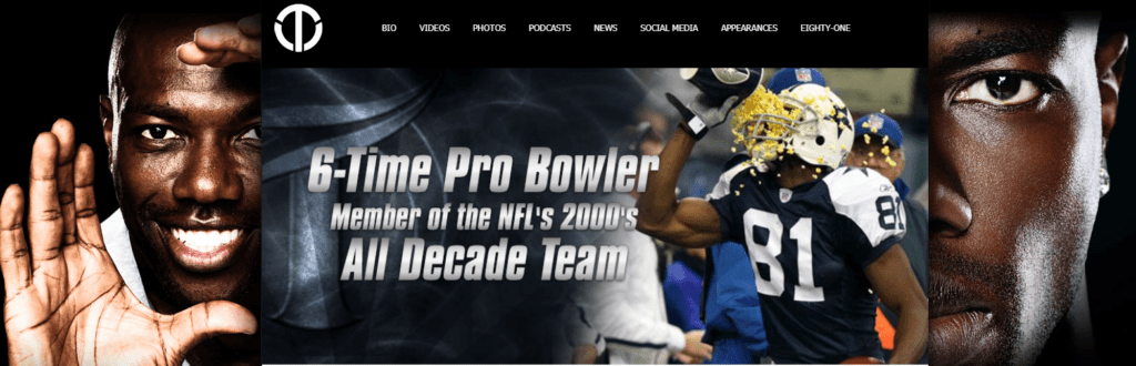 Terrell Owens Official Website homepage