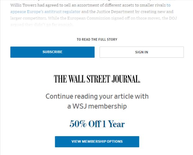 wall street journal paywall lead-in