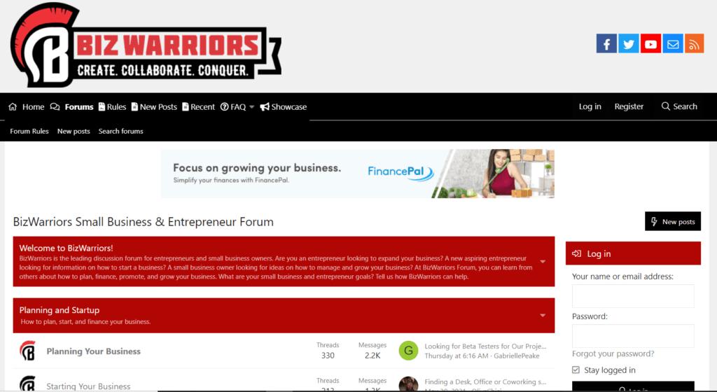 Biz Warriors discussion forums