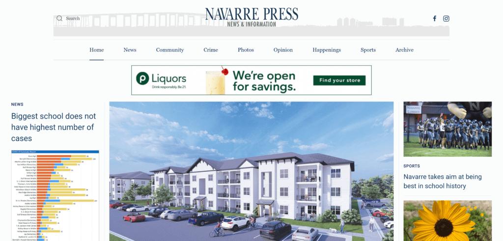 Navarre Press homepage