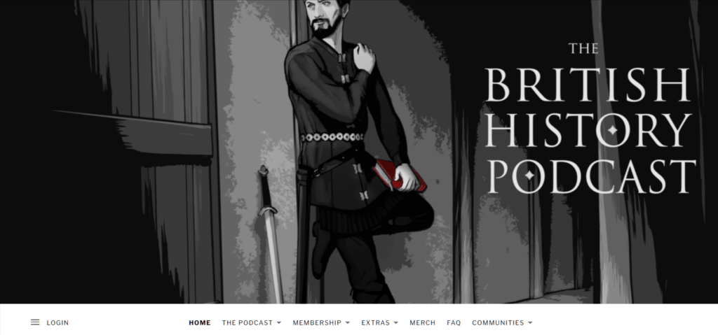 The British History Podcast homepage