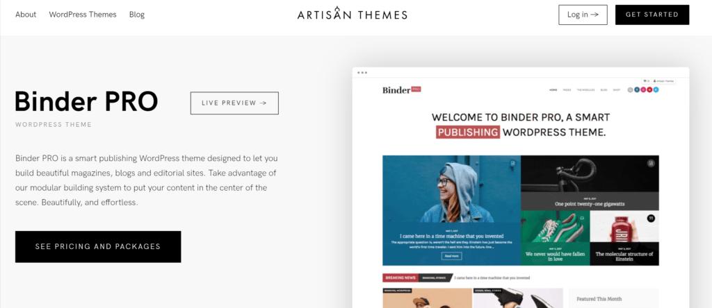 Binder Pro theme by Artisan Themes