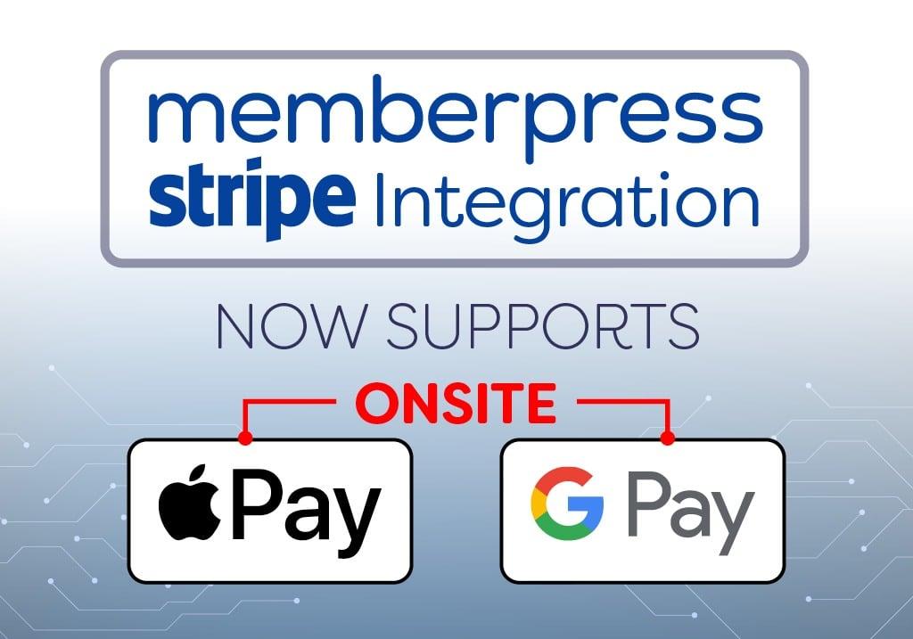 memberpress google wallet and apple pay onsite