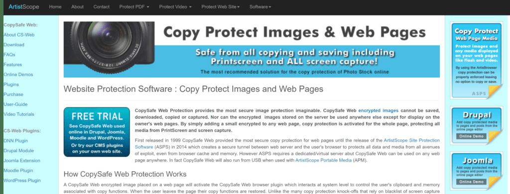 The CopySafe Web Tool