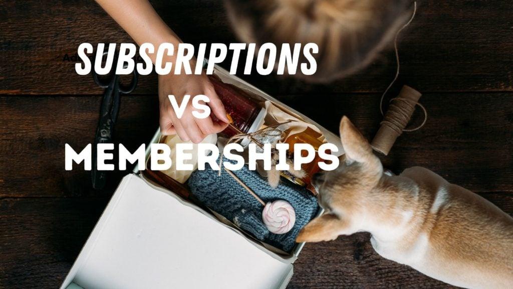 subscriptions vs memberships